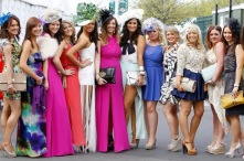 Racegoers on Ladies Day during day two of the 2012 John Smith's Grand National meeting at Aintree Racecourse-794042