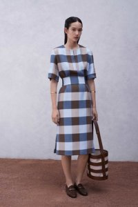 3 gingham pencil dress
