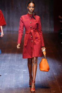 4 suede coat red