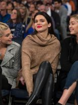 Kendall-Jenner-sits-court-side-with-Hailey-Baldwin-left-and-Gigi-Hadid