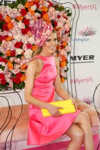 2015 Myer Fashions on the Field Ambassador Georgia Connolly at the Myer Spring Fashion Lunch at Flemington