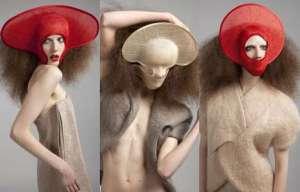 dinu bodiciu straw hats avant garde lady gaga